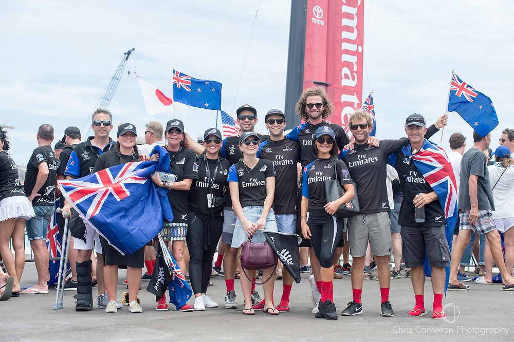 America's Cup Village, Bermuda, 24th June 2017. Tuke family in Bermuda to cheer on Emirates Team New Zealand at the team's base ahead of day three of the America's Cup.