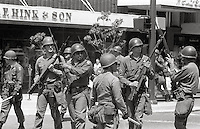 US National guard take over town  Peoples Park University of California Student protest & riots in Berkeley California 1969