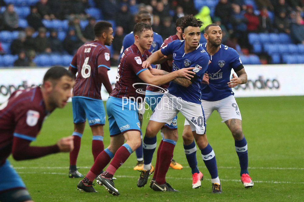 Kean Bryan Oldham Midfielder during the EFL Sky Bet League 1 match between Oldham Athletic and Scunthorpe United at Boundary Park, Oldham, England on 28 October 2017. Photo by George Franks.