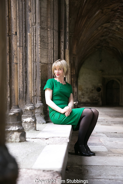 Lucy Wosley in Canterbury Cathedral