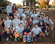 Saint Mary's College women's rugby team competes in the Stanford 7's Qualifier Tournament at Steuber Rugby Stadium at Stanford University in Stanford, California, on November 9, 2013. (Stan Olszewski/SOSKIphoto)