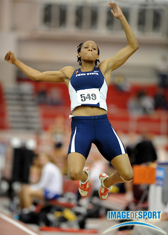 Mar 15, 2008; Fayetteville, AR, USA; Gayle Hunter of Penn State sailed 20-7 1/4 (6.28m) in the pentathlon long jump for 937 points in the NCAA indoor track and field championships at the Randal Tyson Center.  Hunter finished fifth with 4,141 points.