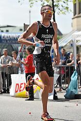 16.07.2011, Hamburg, GER, Dextro Energy Triathlon ITU World Championship Series, Elite men, im Bild Jan Frodeno (GER) auf der Laufstrecke.EXPA Pictures © 2011, PhotoCredit: EXPA/ nph/  Witke       ****** out of GER / CRO  / BEL ******