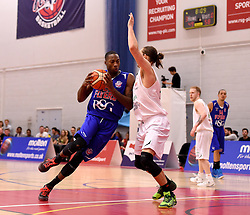 Tyrone Lee of Bristol Flyers forces his way through  - Mandatory byline: Joe Meredith/JMP - 11/12/2015 - Basketball - SGS Wise Campus - Bristol, England - Bristol Flyers v Plymouth Raiders - British Basketball League