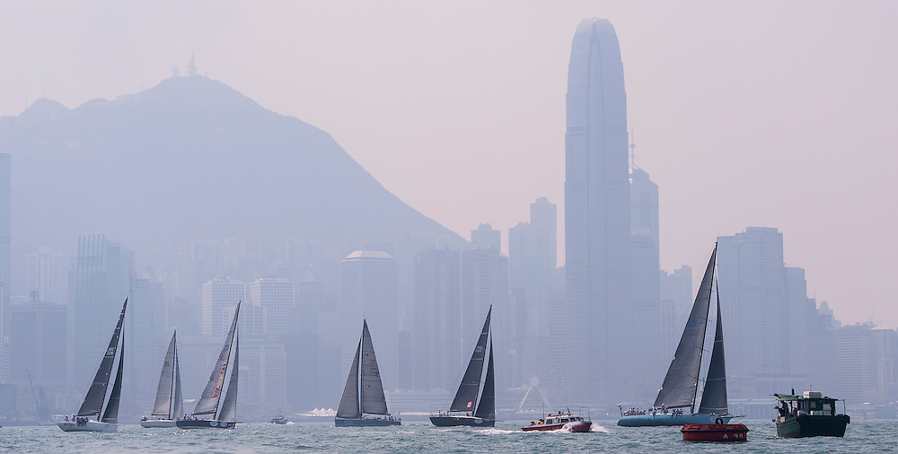 Participants take part on the start of the Audi Hong Kong to Vietnam Race 2015 on October 15 2015 in Hong Kong, China. Photo by Xaume Olleros
