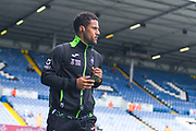 Swansea City midfielder Wayne Routledge (15) arrives at the ground during the EFL Sky Bet Championship match between Leeds United and Swansea City at Elland Road, Leeds, England on 31 August 2019.