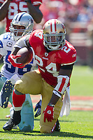 18 September 2011: Runningback (24) Anthony Dixon of the San Francisco 49ers runs the ball against the Dallas Cowboys during the first half of the Cowboys 27-24 overtime victory against the 49ers in an NFL football game at Candlestick Park in San Francisco, CA.