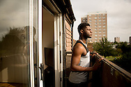 Junior, always looking to secure his future, bought a house with his girlfriend Munjeet when they were both 23 years old, they lived on tins of tuna for 3 months to get the deposit together. Growing up in a council estate, he had never imagined being able to own his own property. Although his house is almost an hour on the train from Hackney, Junior is happy to be surrounded by more trees than concrete. He says his heart will always be in Hackney, he's even on the board of the Shoreditch Trust overseeing community projects in the area, but that because of the gentrification, Hackney is not for people like him anymore.