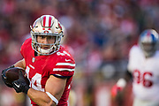San Francisco 49ers fullback Kyle Juszczyk (44) carries the ball against the New York Giants at Levi's Stadium in Santa Clara, Calif., on November 12, 2017. (Stan Olszewski/Special to S.F. Examiner)