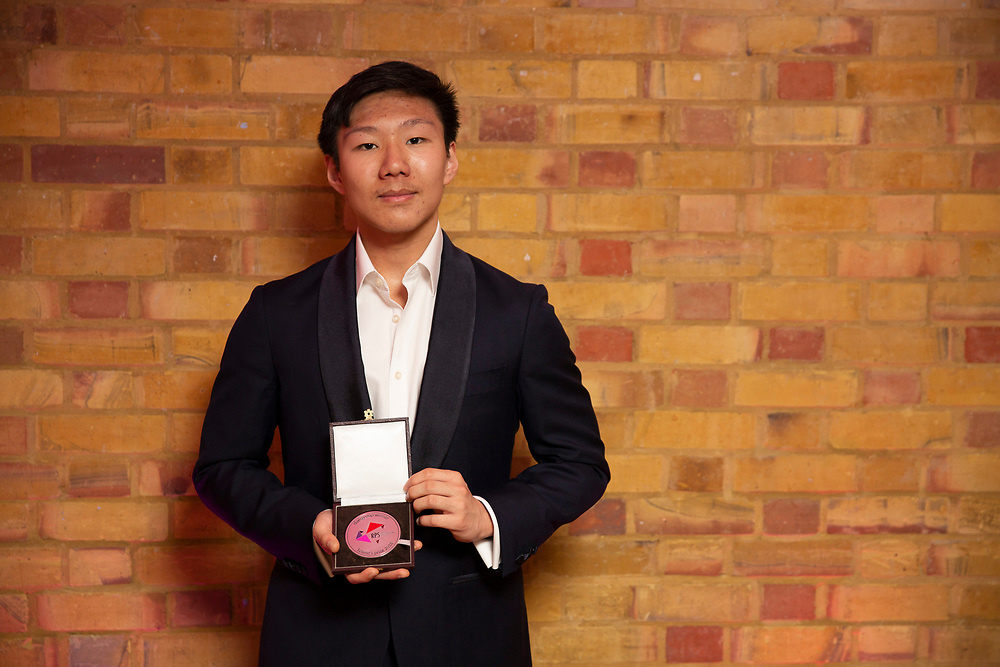 Noah Zhou (piano), winners of the 2018 RPS Duet Prizes for young instrumentalists and composers<br /> Photo credit required:  Simon Jay Price