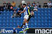 Colchester United's Mikaël Mandron(19) heads the ball during the EFL Sky Bet League 2 match between Colchester United and Carlisle United at the Weston Homes Community Stadium, Colchester, England on 14 October 2017. Photo by Phil Chaplin