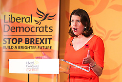 © Licensed to London News Pictures. 05/11/2019. London, UK. Leader of the Liberal Democrats JO SWINSON speaks during the launch of Liberal Democrat general election campaign in Westminster. A general election will be held on 12 December 2019. Photo credit: Dinendra Haria/LNP