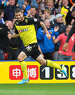 Picture by David Horn/Focus Images Ltd +44 7545 970036<br /> 14/09/2013<br /> Daniel Pudil of Watford celebrates scoring to make it 1-1 during the Sky Bet Championship match at Vicarage Road, Watford.