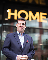 "© Licensed to London News Pictures . 10/11/2016 . Manchester , UK . Labour Party candidate ANDY BURNHAM arrives to deliver a speech and host a Q&A at the launch of the party's campaign for the Greater Manchester Mayoralty , at the "" HOME "" arts venue on Tony Wilson Place , First Street , Manchester . Photo credit : Joel Goodman/LNP"