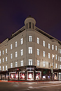 victoria secrets, london, england, uk, building, exterior, dusk, night, lighting, retail