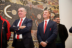 ADELAIDE, AUSTRALIA - Sunday, July 19, 2015: Liverpool's Managing Director Ian Ayre and manager Brendan Rodgers during a visit to the Art Gallery of South Australia ahead of a preseason friendly match against Adelaide United on day seven of the club's preseason tour. (Pic by David Rawcliffe/Propaganda)