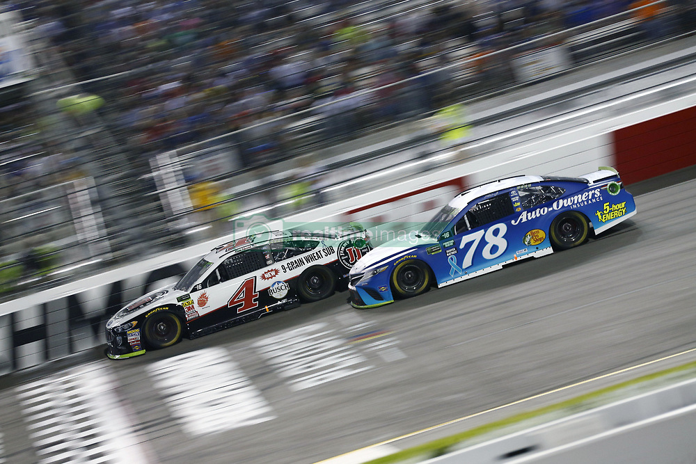 September 22, 2018 - Richmond, Virginia, United States of America - Kevin Harvick (4) battles for position during the Federated Auto Parts 400 at Richmond Raceway in Richmond, Virginia. (Credit Image: © Chris Owens Asp Inc/ASP via ZUMA Wire)