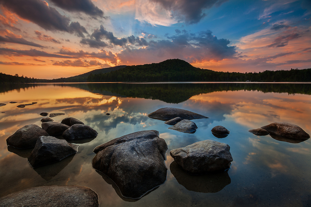 Sunset light, Kettle Pond, Groton State Forest, Vermont