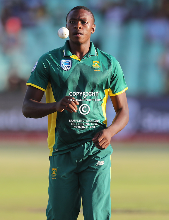 Kagiso Rabada of the (South African Proteas) during the 2nd ODI Momentum One-Day International (ODI) series South African and Sri Lanka at Kingsmead, Durban, South Africa.1st February 2017 - (Photo by Steve Haag)