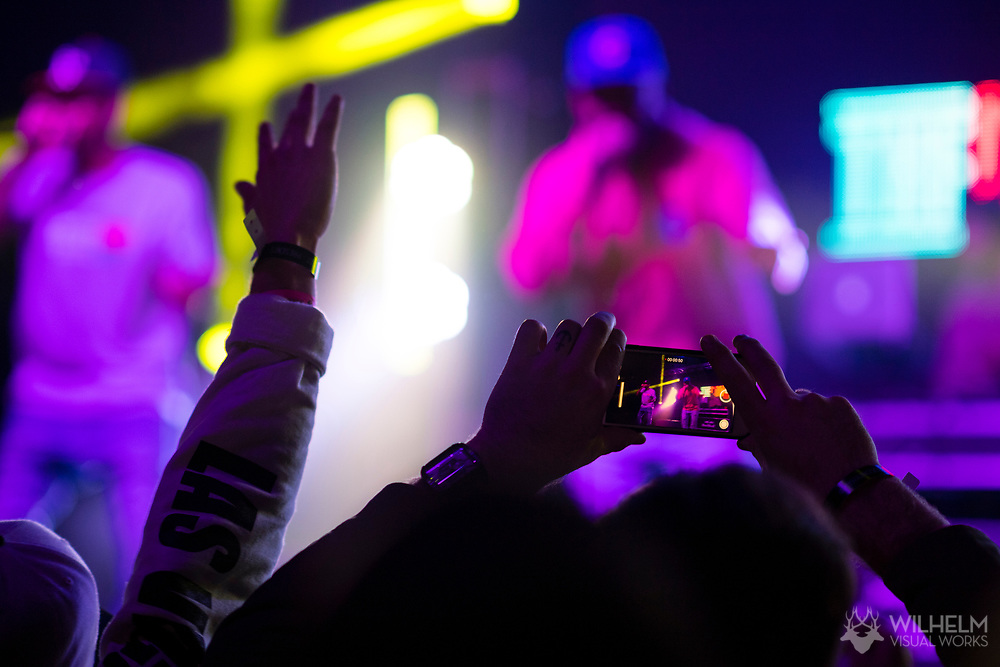 A detail of an attendee's phone while the Cool Kids perform at Red Bull Sound Select Presents Denver at the Summit Music Hall in Denver, CO, USA, on 17 February, 2017.