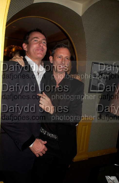 Tim Jefferies and Patrick Cox. Artists Independent Networks  Pre-BAFTA Party at Annabel's co hosted by Charles Finch and Chanel. Berkeley Sq. London. 11 February 2005. . ONE TIME USE ONLY - DO NOT ARCHIVE  © Copyright Photograph by Dafydd Jones 66 Stockwell Park Rd. London SW9 0DA Tel 020 7733 0108 www.dafjones.com
