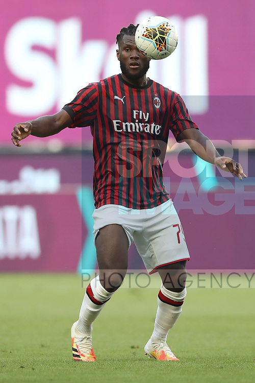 AC Milan's Ivorian midfielder Franck Kessie focuses on the ball during the Serie A match at Giuseppe Meazza, Milan. Picture date: 28th June 2020. Picture credit should read: Jonathan Moscrop/Sportimage