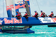 The Great Sound, Bermuda, 20th June 2017, Red Bull Youth America's Cup Finals.Team France Jeune win race two.