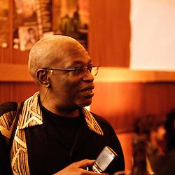 Mweze Ngangura au Festival des cinemas Africains a Ixelles, près de Bruxelles. 3 mars 2009. Photo : Antoine Doyen