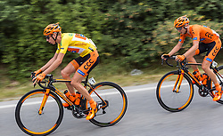 09.07.2016, Wien, AUT, Ö-Tour, Österreich Radrundfahrt, 7. Etappe, Bad Tatzmannsdorf nach Wien/Kahlenberg, im Bild Jan Hirt (CZE, CCC Sprandi Polkowice), Leszek Plucinski (POL, CCC Sprandi Polkowice) // Jan Hirt (CZE CCC Sprandi Polkowice) Leszek Plucinski (POL CCC Sprandi Polkowice) during the Tour of Austria, 7th Stage from Bad Tatzmannsdorf to Vienna/Kahlenberg Wien, Austria on 2016/07/09. EXPA Pictures © 2016, PhotoCredit: EXPA/ JFK