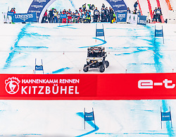 25.01.2020, Streif, Kitzbühel, AUT, FIS Weltcup Ski Alpin, im Rahmen der KitzCharityTrophy 2020 am Samstag, 25. Jänner 2020, auf der Streif in Kitzbühel. // f.l. Sebastian Vettel and Bernie Ecclestone during the KitzCharityTrophy 2020 at the Streif in Kitzbühel, Austria on 2020/01/25, im Bild v.l. Sebastian Vettel, Bernie Ecclestone // f.l. Sebastian Vettel and Bernie Ecclestone during the KitzCharityTrophy 2020 at the Streif in Kitzbühel, Austria on 2020/01/25. EXPA Pictures © 2020, PhotoCredit: EXPA/ Stefan Adelsberger