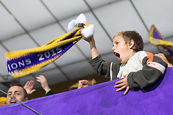 Fans of NK Maribor celebrate after scoring a goal during football match between NK Maribor and Sporting Lisbon (POR) in Group G of Group Stage of UEFA Champions League 2014/15, on September 17, 2014 in Stadium Ljudski vrt, Maribor, Slovenia. Photo by Matic Klansek Velej  / Sportida.com