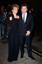 Lorraine Ashbourne with Andy Serkis during the Harper's Bazaar Women of the Year Awards. London, United Kingdom. Tuesday, 5th November 2013. Picture by Nils Jorgensen / i-Images
