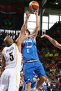 DESCRIZIONE : Madrid Spagna Spain Eurobasket Men 2007 Qualifying Round Germania Italia Germany Italy GIOCATORE : Stefano Mancinelli<br /> SQUADRA : Nazioanle Italia Uomini Italy <br /> EVENTO : Eurobasket Men 2007 Campionati Europei Uomini 2007 <br /> GARA : Germania Italia Germany Italy <br /> DATA : 12/09/2007 <br /> CATEGORIA : Tiro <br /> SPORT : Pallacanestro <br /> AUTORE : Ciamillo&amp;Castoria/H.Bellenger Galleria : Eurobasket Men 2007 <br /> Fotonotizia : Madrid Spagna Spain Eurobasket Men 2007 Qualifying Round Germania Italia Germany Italy Predefinita :MADRID 12 SETTEMBRE 2007BASKET EUROPEI GERMANI-ITALIANELLA FOTO BARGNANIFOTO CIAMILLO-CASTORIA