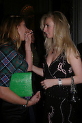 Hayley Sieff and Jenny Halpern. Tiffany & Co. Christmas party. the Savile Club. Brook St. London. 14 December 2004.  ONE TIME USE ONLY - DO NOT ARCHIVE  © Copyright Photograph by Dafydd Jones 66 Stockwell Park Rd. London SW9 0DA Tel 020 7733 0108 www.dafjones.com