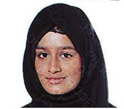 © Licensed to London News Pictures. 22/02/2015. LONDON, UK. Shamima Begum. Police are urgently trying to trace Shamima Begum, 15, Kadiza Sultana, 16, and 15-year-old Amira Abase after they flew to Istanbul in Turkey from Gatwick Airport on Tuesday. The girls are believed to have fled to Syria to join Islamic State. Photo credit : LNP