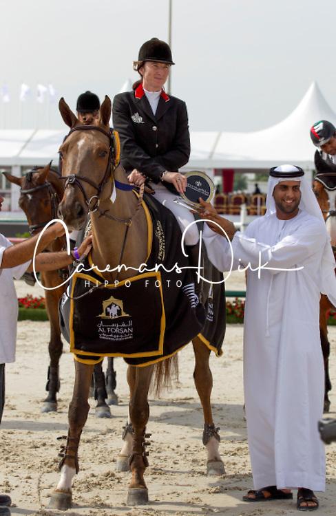 Hughes Marion (IRL) - HHS Pinky <br /> Grand Prix CSI2*<br /> Global Champions Tour - Abu Dhabi 2012<br /> &copy; Hippo Foto - Cindy Voss