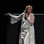 Edinburgh International Festival (EIF). Don Giovanni (Opera) by Wolfgang Amadeus Mozart. Conducted by Iv&agrave;n Fischer. Laura Aikin as Donna Anna. Festival Theatre, Edinburgh.  08 Aug 2017. Edinburgh. Credit: Photo by Tina Norris. Copyright photograph by Tina Norris. Not to be archived and reproduced without prior permission and payment. Contact Tina on 07775 593 830 info@tinanorris.co.uk  <br /> www.tinanorris.co.uk