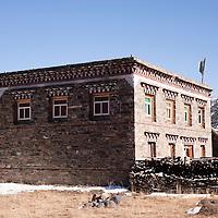 Traditional Tibetan house, Tagong, Sichuan, China