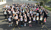 Pupils from North Hampton National school  Co. Galway some of whom will be presented with medals for their prize-winning original story at this year&rsquo;s Write a Book / Scr&iacute;obh Leabhair competition, run by Galway Education Centre, in the Radisson Hotel on Thursday 30th April. <br />  Photo: Andrews Downes XPOSURE
