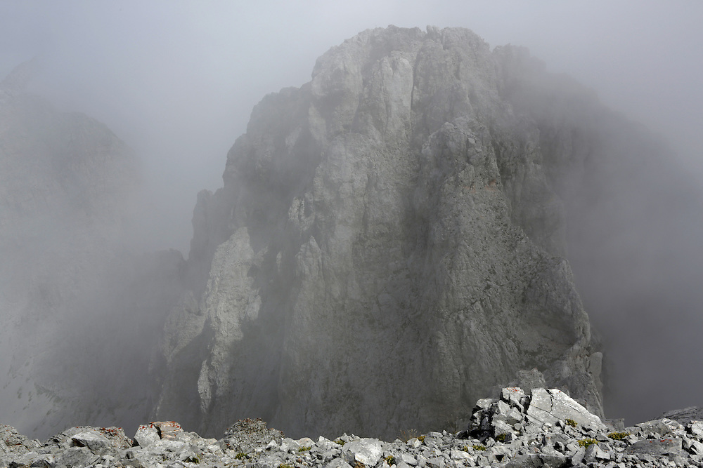 View from  the summit of Kucki Kom, 2487m, Montenegro.