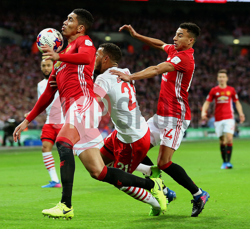 Chris Smalling of Manchester United  - Mandatory by-line: Matt McNulty/JMP - 26/02/2017 - FOOTBALL - Wembley Stadium - London, England - Manchester United v Southampton - EFL Cup Final