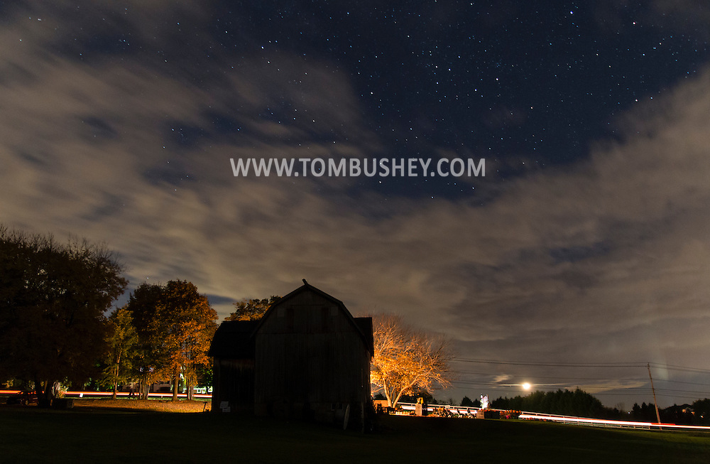 Goshen, New York  - Night scenes on Oct. 16, 2015.