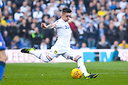 Pablo Hernandez of Leeds United (19) looks to play a long pass during the EFL Sky Bet Championship match between Leeds United and Bolton Wanderers at Elland Road, Leeds, England on 23 February 2019.