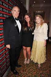 CHRISTOPHER FOYLE, his wife CATHERINE and daughter CHRISSIE FOYLE at a gala dinner in celebration of 80 years since the first Foyles Literary Luncheon, held in The Ball Room, Grosvenor House Hotel, Park Lane, London on 21st October 2010.