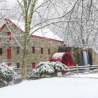 New England winter photography of the Sudbury Grist Mill at the Wayside Inn Historic District. This local New England landmark is in Sudbury, Massachusetts.<br /> <br /> Sudbury Grist Mill at the Wayside Inn Historic District winter photos are available as museum quality photo, canvas, acrylic, wood or metal prints. Wall art prints may be framed and matted to the individual liking and interior design decoration needs:<br /> <br /> https://juergen-roth.pixels.com/featured/massachusetts-wayside-inn-historic-district-juergen-roth.html<br /> <br /> Good light and happy photo making!<br /> <br /> My best,<br /> <br /> Juergen