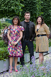 © licensed to London News Pictures. LONDON, UK  23/05/2011. Chelsea Flower Show 2011, Press Day. Please see special instructions for usage rates. Lorraine Kelly, George Clark and Kirsty Allsop. Photo credit should read Bettina Strenske/LNP