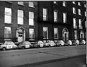 "04/12/1960<br /> 12/04/1960<br /> 04 December 1960<br /> Heinkel ""I'm All Right Jack"" parade through Dublin city organised by Lincoln and Nolan. Picture shows the line of Heinkel Bubble cars on parade."