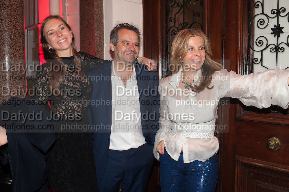 MARK HIX; ALIAI FORTE, Rocco Forte's Brown's Hotel Hosts 175th Anniversary Party, Browns Hotel. Albermarle St. London. 16 May 2013