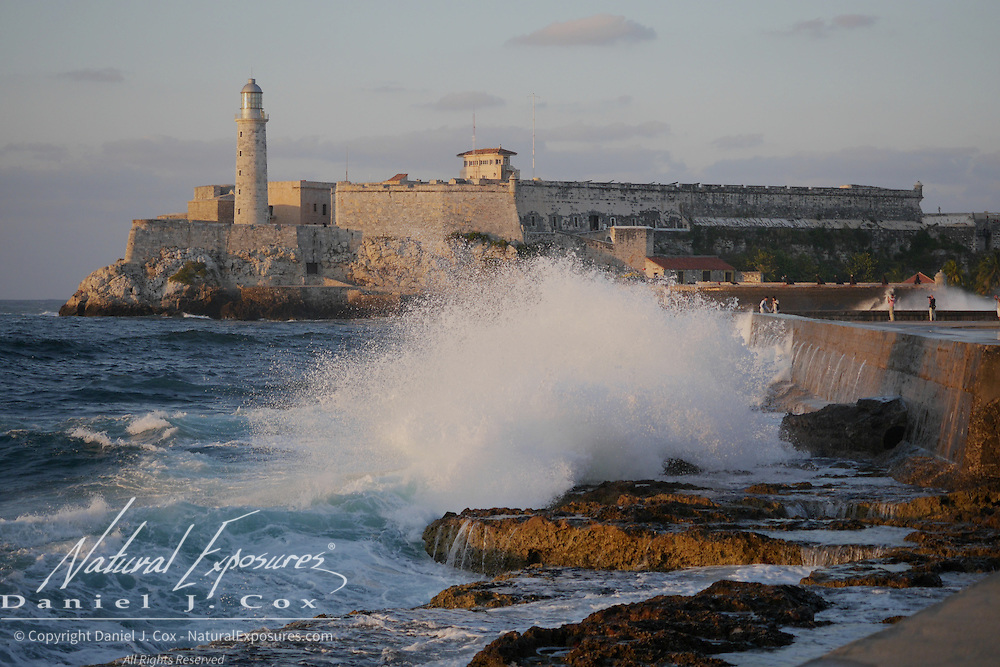Morro Castle, an old Spanish fort that was used to protect the entrance to Havana Bay, Havana, Cuba