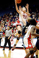 UD freshman Ally Malott (21) as the Rhode Island Rams play the University of Dayton Flyers at UD Arena in Dayton, Saturday, January 7, 2012.